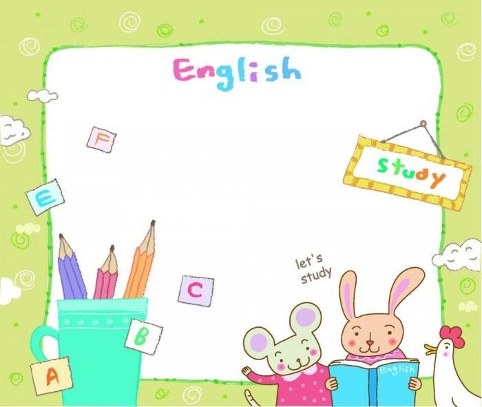Learning English cartoon animals vector