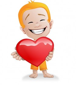 Male Vector Character with a Heart – Vector Characters