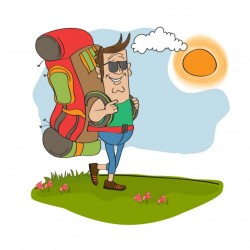Man walking in the countryside Vector | Free Download