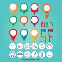 Map Pin Colourful Set Vector | Premium Download