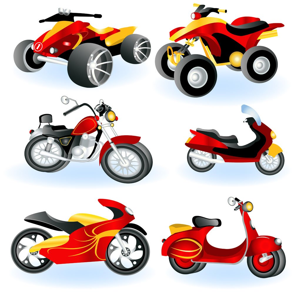 Motorcycle electric car design vector