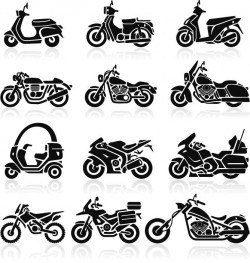 Motorcycle illustration vector