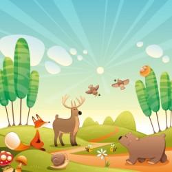 Natural landscape background Vector | Free Download