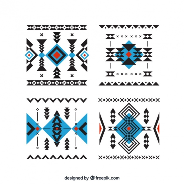 Pack of abstract ethnic forms Vector | Free Download