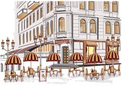 Paris street vector table