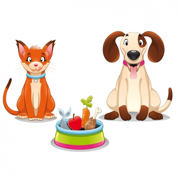 Pets ready to eat Vector | Free Download