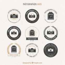 Photographer logos pack Vector | Premium Download
