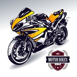 Pretty motorcycle illustration vector