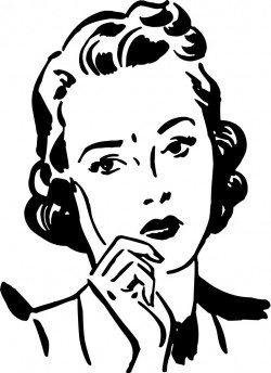 Retro female illustrator vector