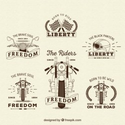 Retro motos insignias collection Vector | Premium Download