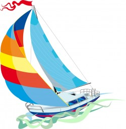 Sailboat design illustration vector