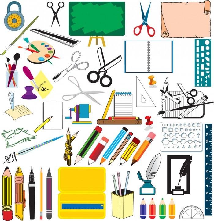 School supplies vector