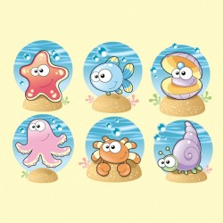 Sea animals collection Vector | Free Download