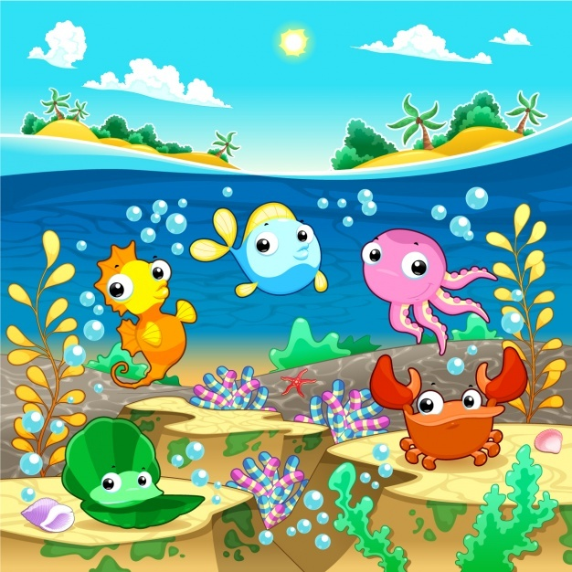 Sealife backgound desing Vector | Free Download
