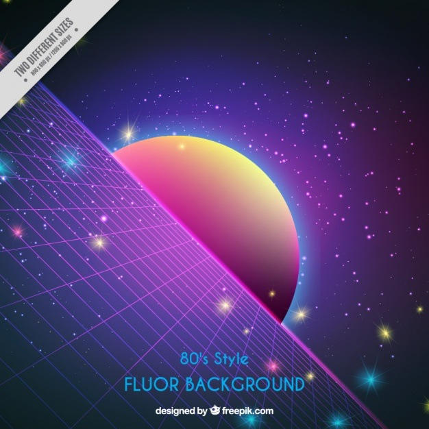 Shiny background in eighties style Vector | Free Download