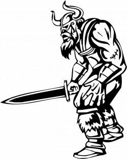 Single-hand sword Vikings vector