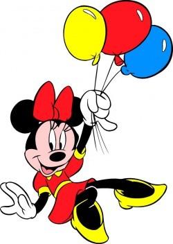 Take Minnie balloons vector