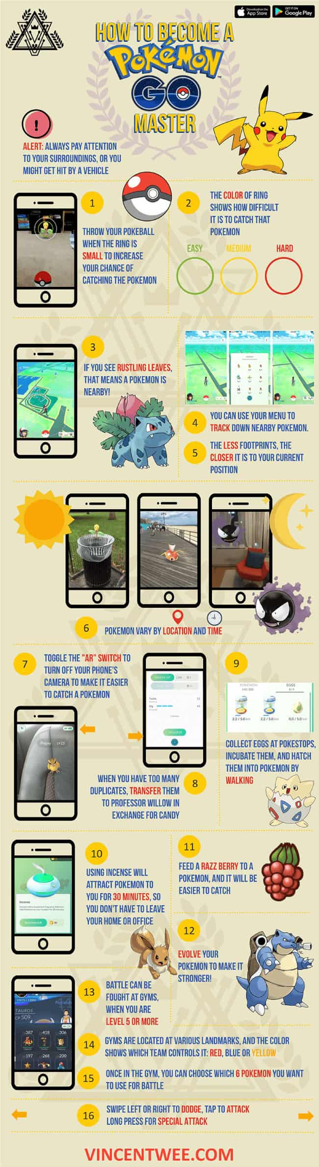 Tips to Become a Pokemon GO Master | Tipsographic