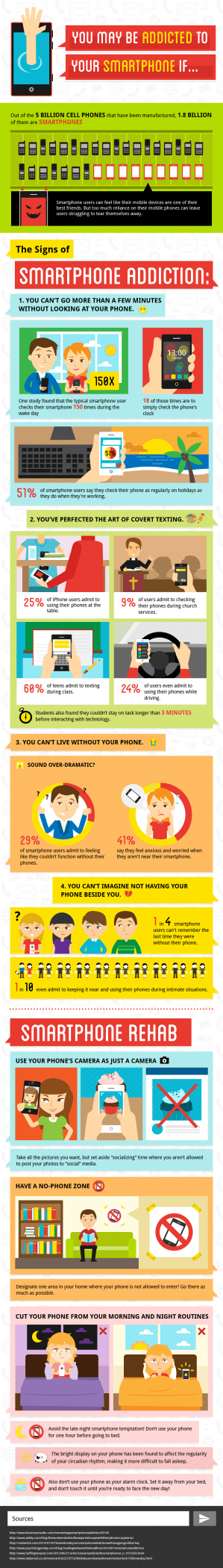 Tips to Recognize if You Are Addicted to Smartphones | Tipsographic