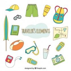 Traveler elements collection Vector | Premium Download