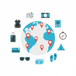 Travelling icons collection Vector | Free Download