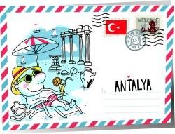 Turkey envelope vector