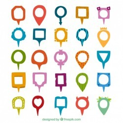 Variety of colored and shapes pointers Vector | Premium Download
