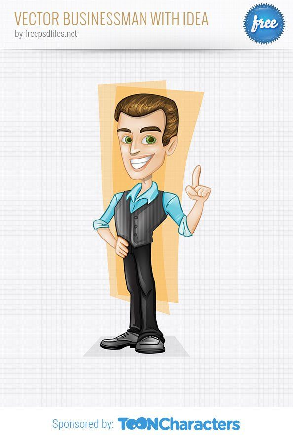 Vector Businessman with Idea – Vector Characters