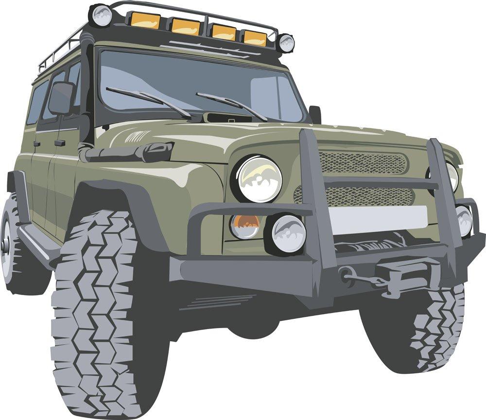 Jeep vector illustration cartoon car