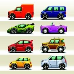 Vector illustration cartoon car