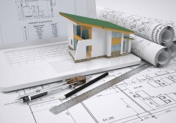 Villa construction engineering drawings and picture material
