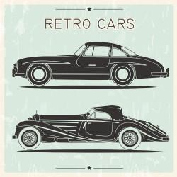 Vintage Racing Vintage background vector