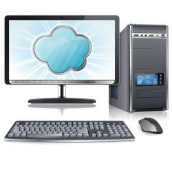 A desktop computer vector