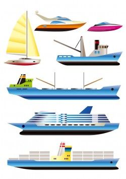A wide variety of ship vector image