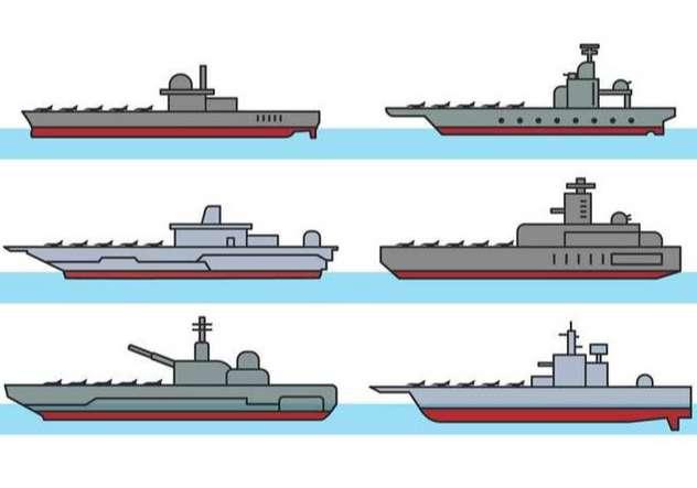 Aircraft Carrier Vector