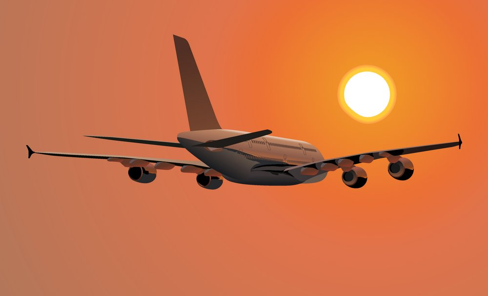 Airliner in flight vector