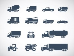 All kinds of freight vehicles icon vector