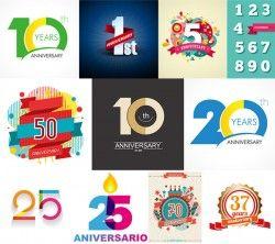 Anniversary digital vector