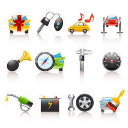 Automotive supplies button vector