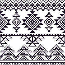 Aztec pattern, without color