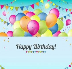 Balloon birthday card vector pictures