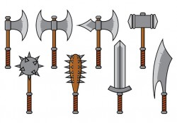 Barbarian Weapon Vector