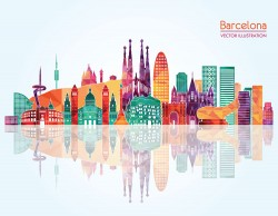 Barcelona city illustration vector