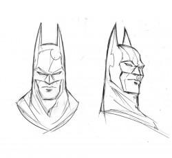 Batman, Bruce Wayne heads by TrevorMc112 on DeviantArt