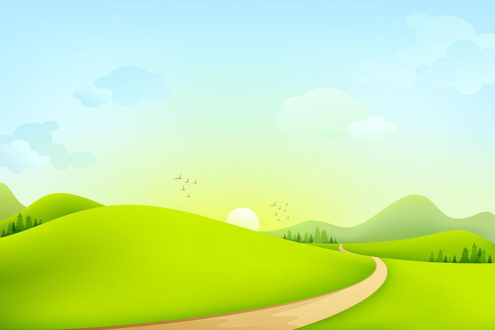 Beautiful meadow landscape vector