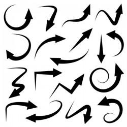 Black arrow vectors set