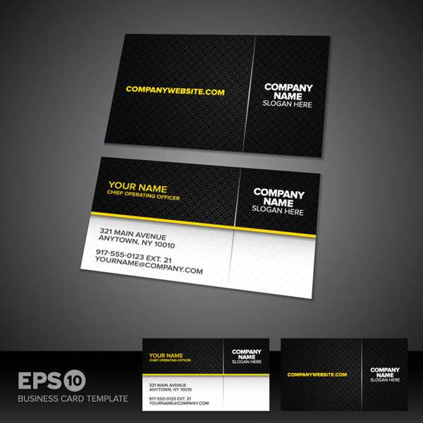 Black business cards vector pictures