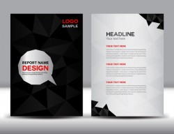 Black cover annual report template