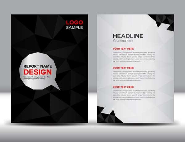Black cover annual report template