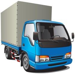 Blue truck design vector